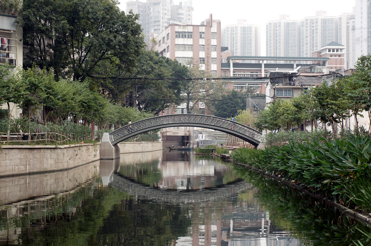 new pedestrian bridge in Chang-hua neighborhood